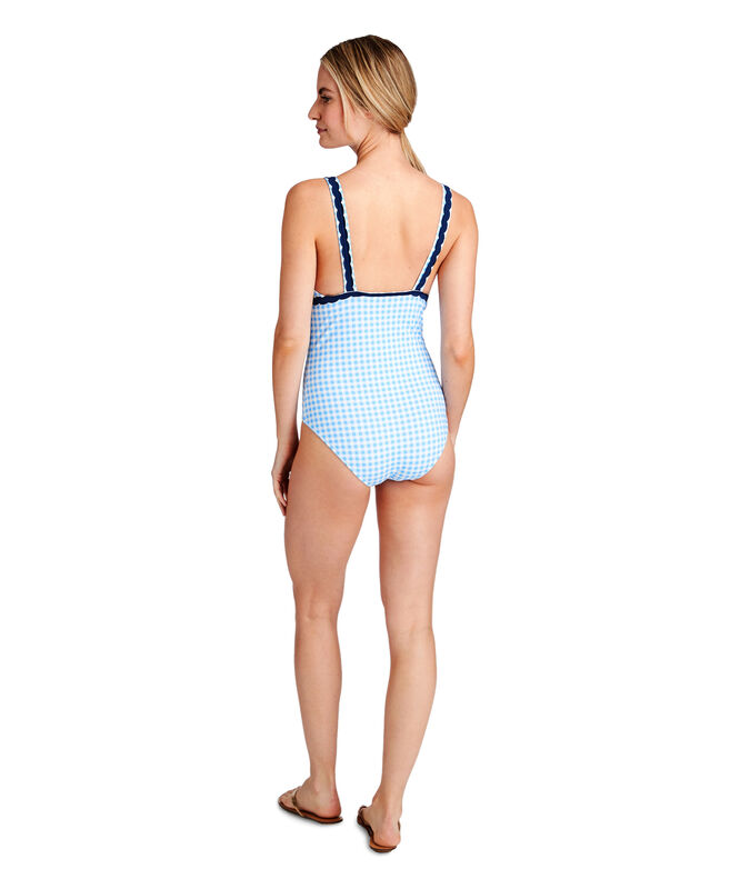 Gingham Ric Rac One-Piece