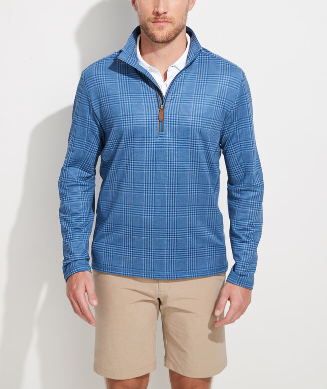 Printed Glen Plaid Pescadero 1/2-Zip Pullover