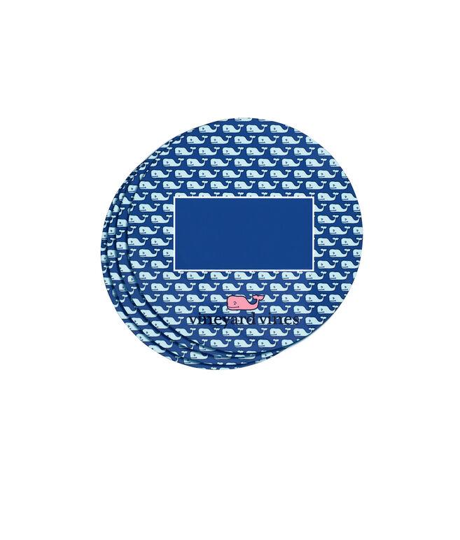 Monogrammed Vineyard Whale Coaster