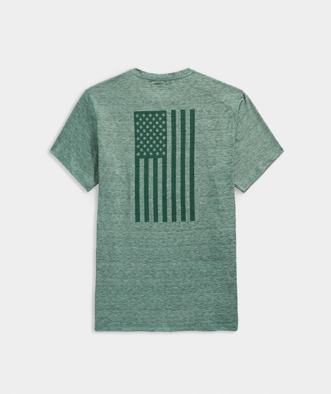 American Flag Short-Sleeve Harbor Performance Tee