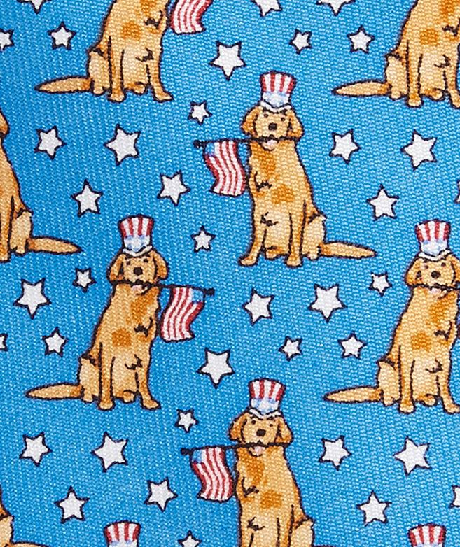 Boys' Patriotic Pup Printed Tie