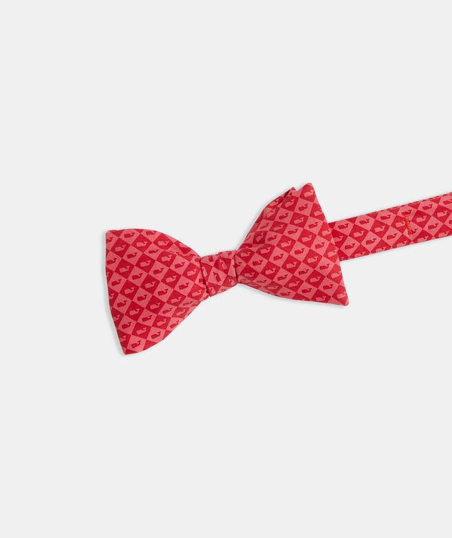 Kentucky Derby Whale Argyle Printed Bow Tie