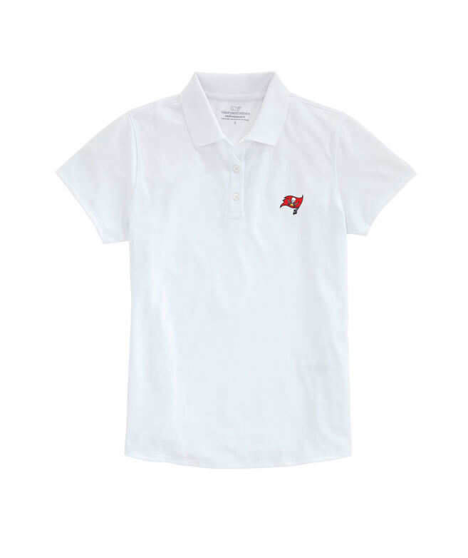 Tampa Bay Buccaneers Womens Performance Pique Stretch Polo