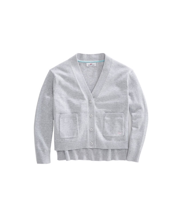 Girls Pocket Cotton Cardigan