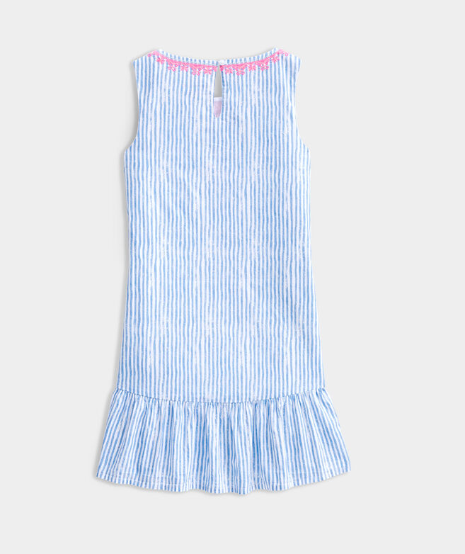 Girls' Sunbleached Stripe Embroidered Dress