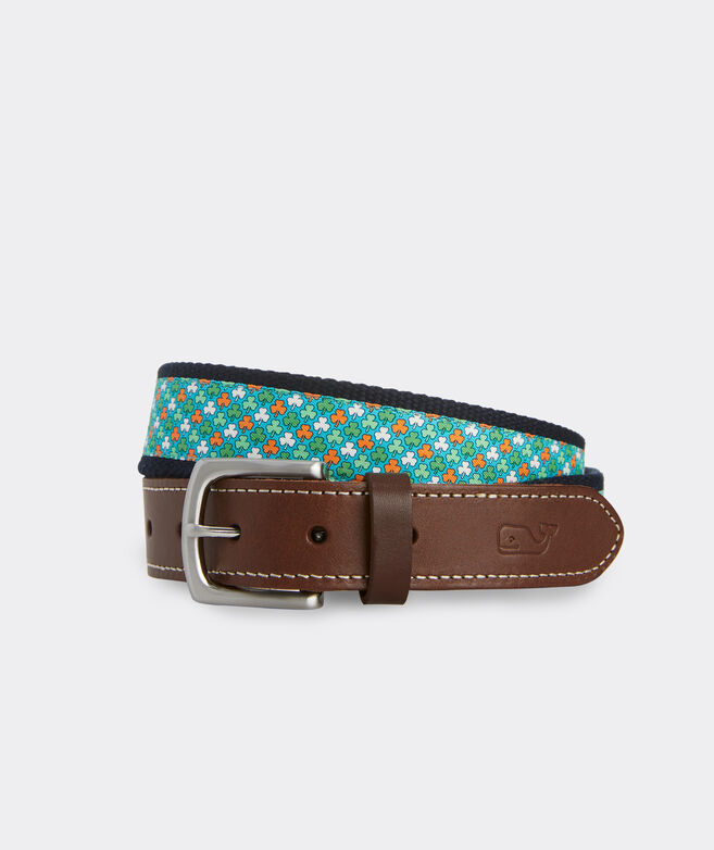 Luck of the Irish Canvas Club Belt