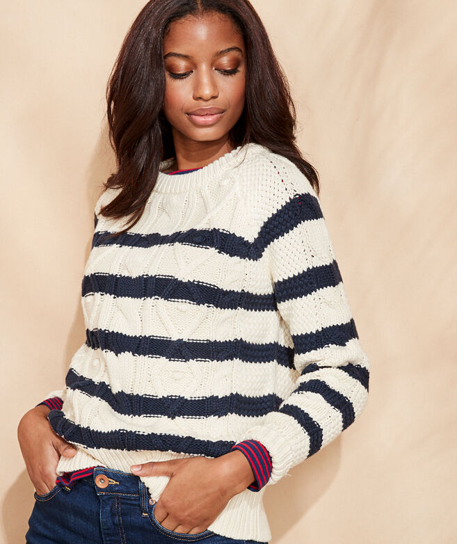 Striped Fisherman Crewneck Sweater