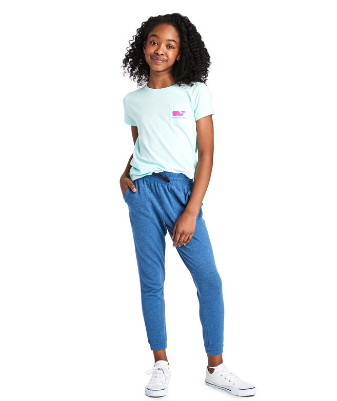 Girls Summer Weight Tri-Blend Joggers