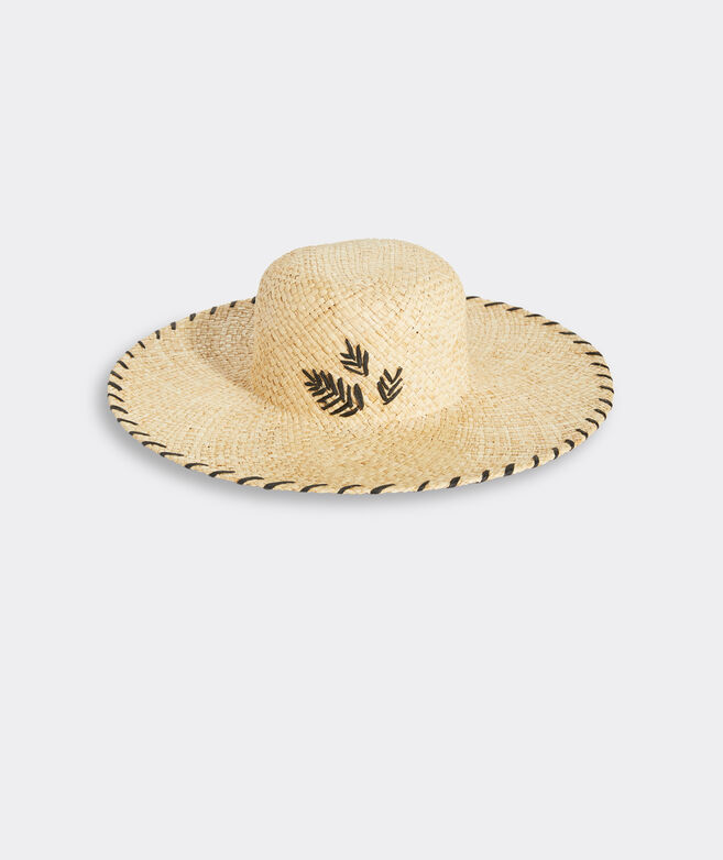 Embroidered Straw Sunhat