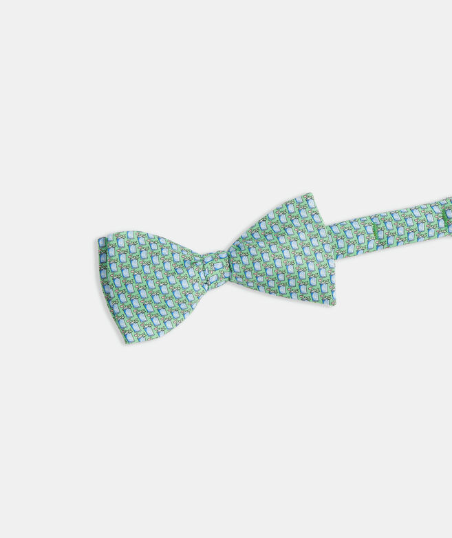 Kentucky Derby Mint Juleps Printed Bow Tie