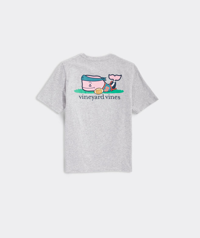 Boys' Flag Football Whale Short-Sleeve Pocket Tee