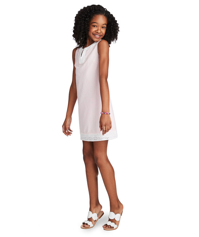 Girls Seersucker Vineyard Tunic Dress