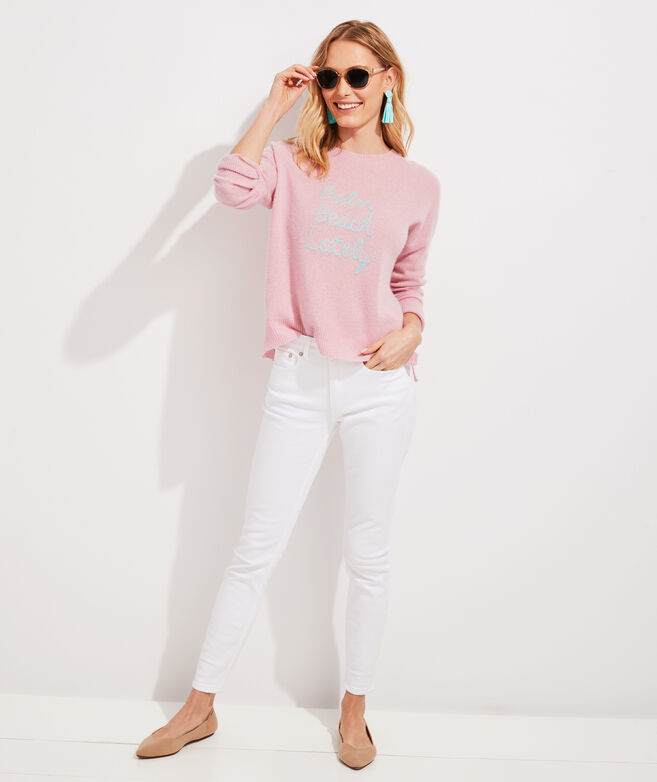 Palm Beach Lately Lofty Cashmere Crewneck Sweater