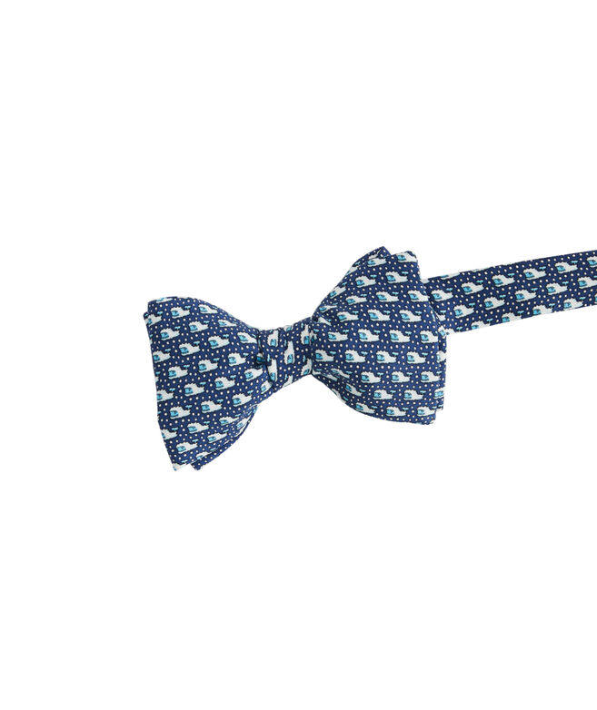 Yeti Whale Printed Bow Tie