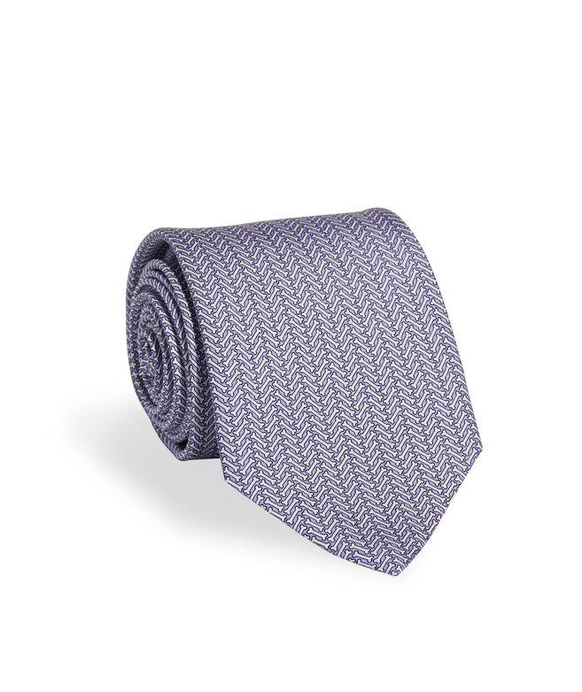 Herringbone Printed Tie
