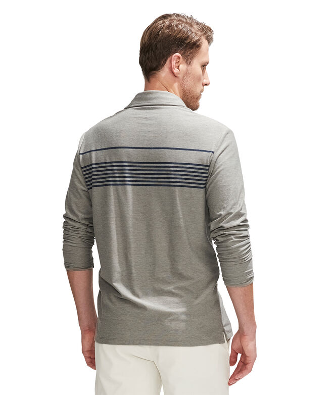 Palm Beach Chest Stripe Edgartown Long-Sleeve Polo