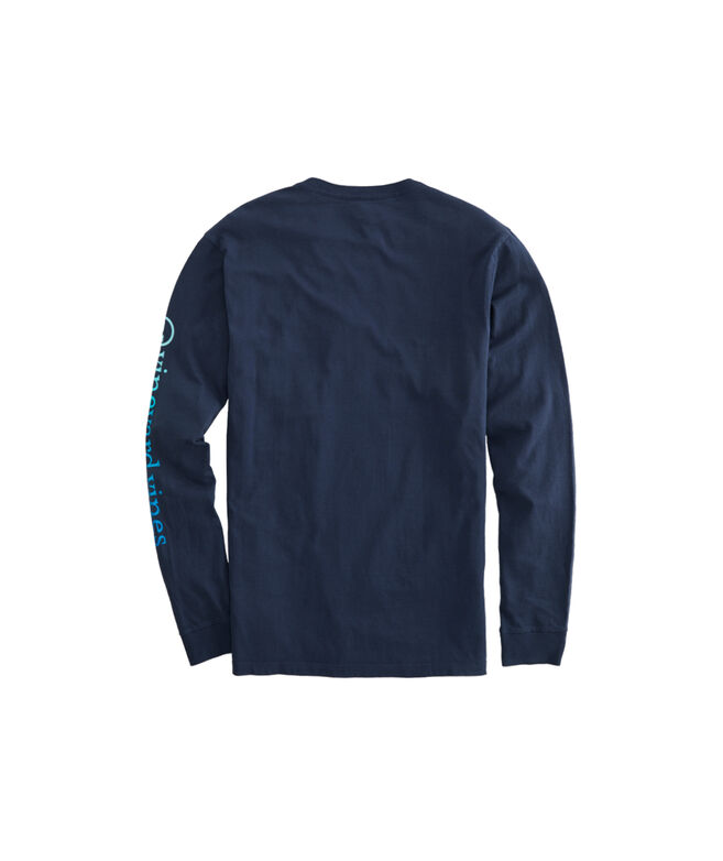 Ombre Whale Dot Long-Sleeve Pocket Tee