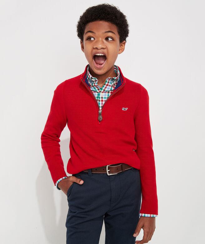 Boys' Classic 1/4 Zip Sweater