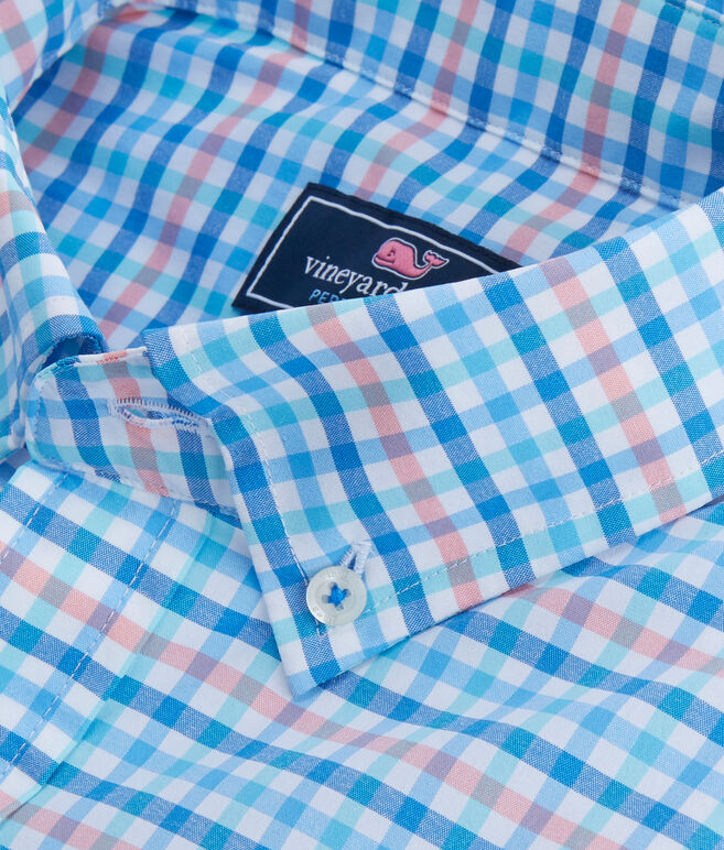 Coco Bay Check Performance Classic Tucker Shirt