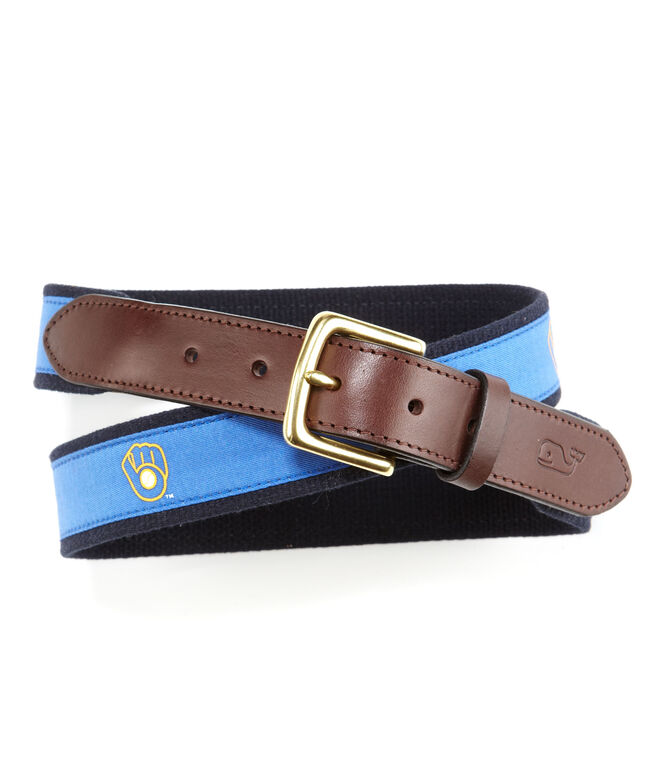 Milwaukee Brewers Canvas Club Belt