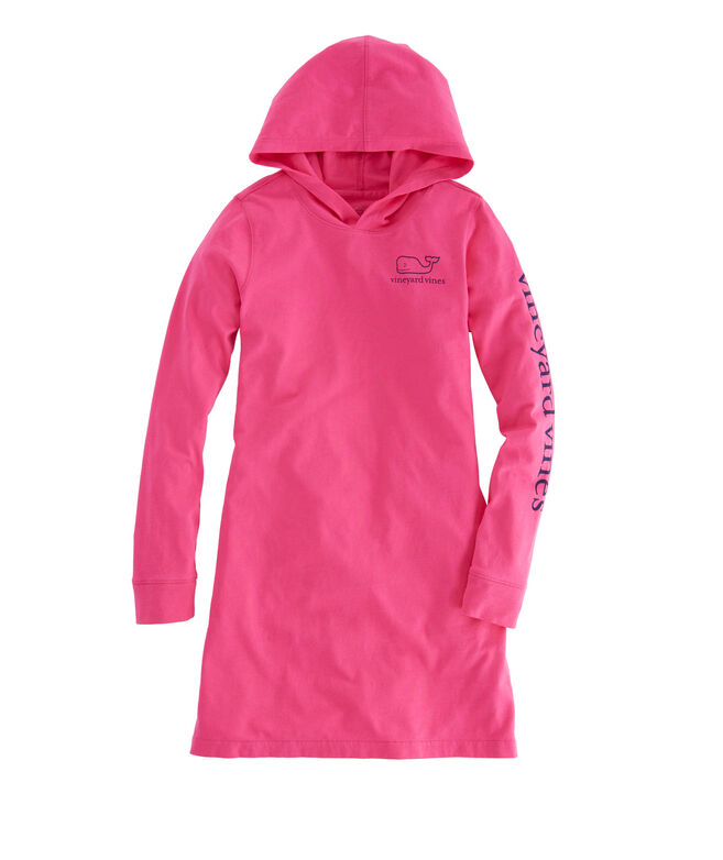 Girls Long-Sleeve Whale Hoodie Cover-Up