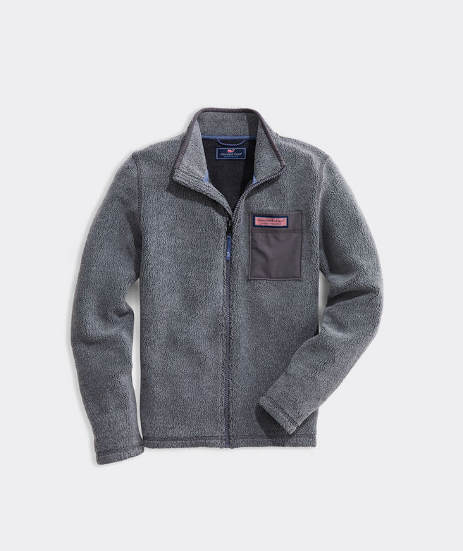 Boys' Vineyard Sherpa Full-Zip Pullover