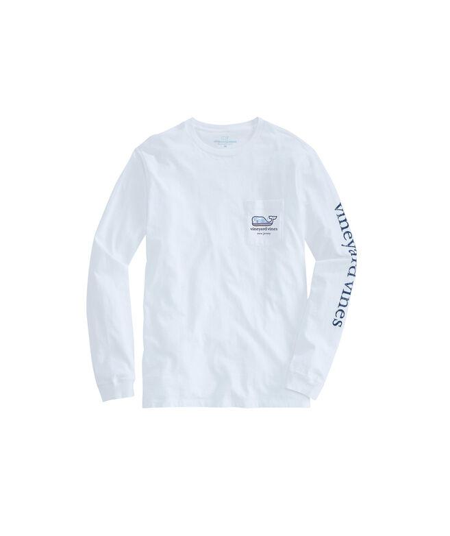 910bba6f82c Adult Long-Sleeve New Jersey Boardwalk Whale Fill T-Shirt