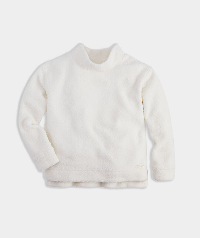 Girls Fuzzy Mock Neck Pullover