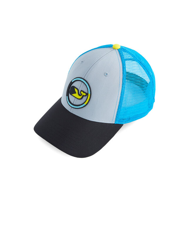 Performance Bahamas Embroidered Whale Dot Trucker Hat