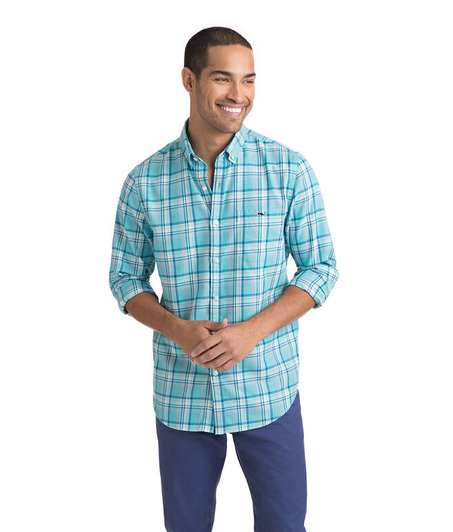 Loblolly Plaid Performance Flannel Slim Tucker Shirt