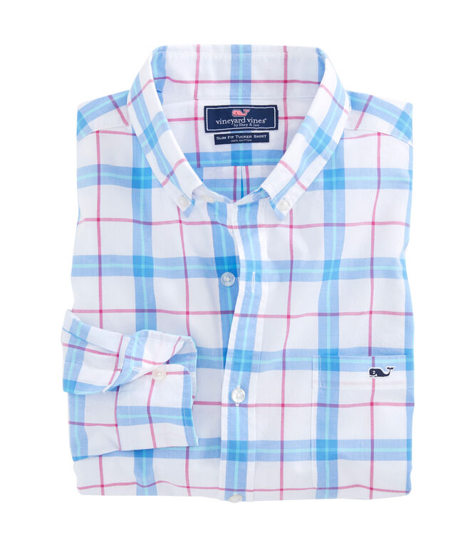 Marsara Plaid Slim Tucker Shirt
