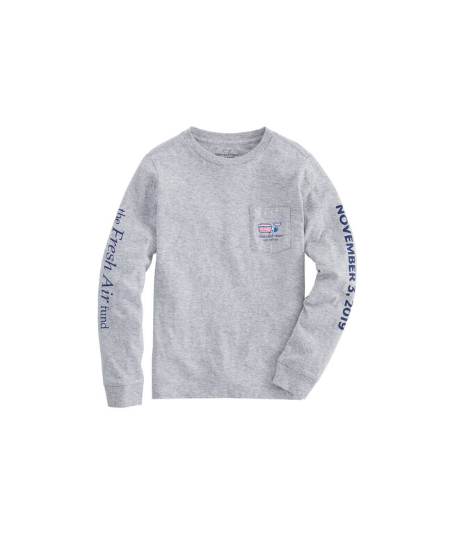 Boys NYC Marathon Runner Whale Long-Sleeve T-Shirt