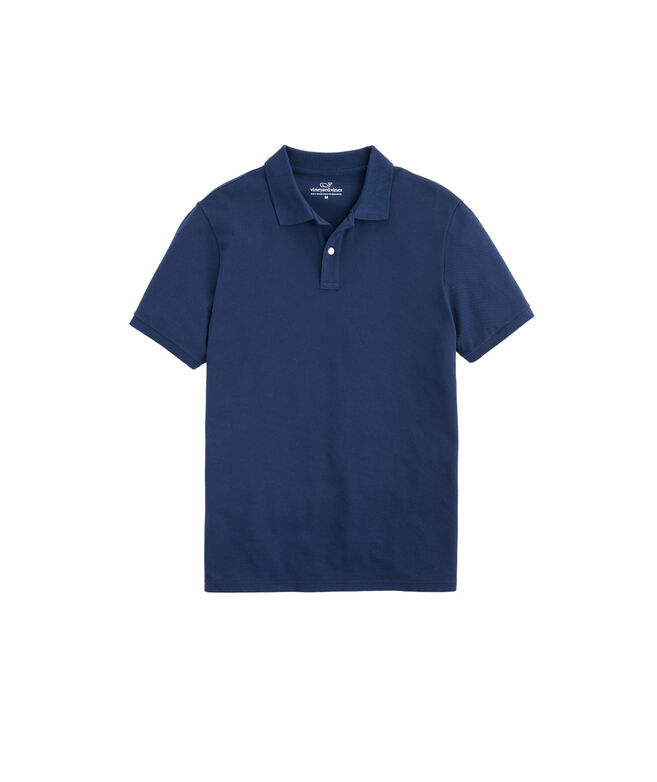 Blank Mens Stretch Pique Solid Polo