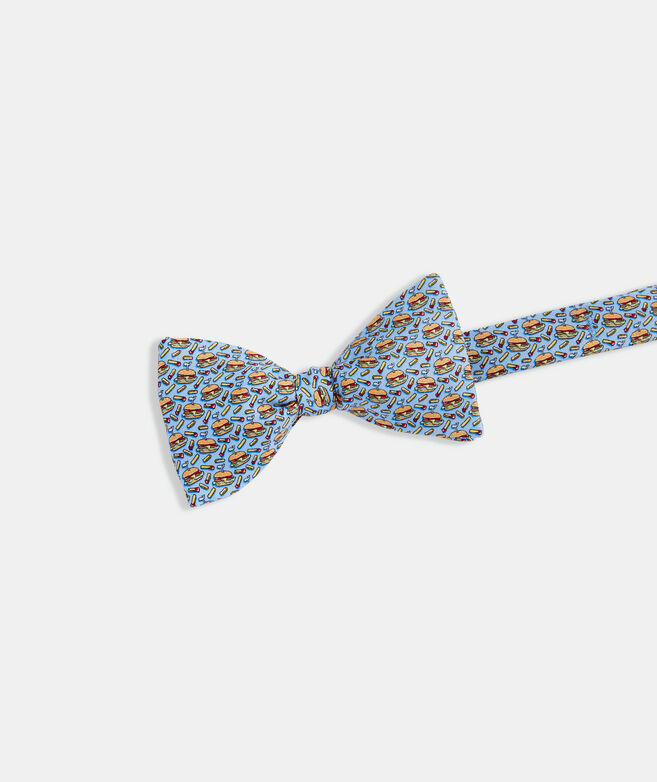 Burgers & Fries Printed Bow Tie