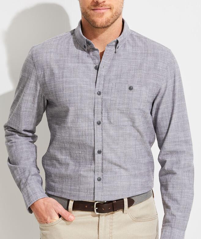 Slim Fit Chambray Longshore Button-Down Shirt