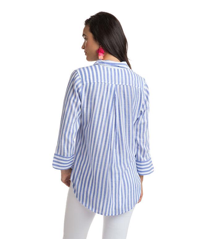 Stripe Mix Popover Tunic