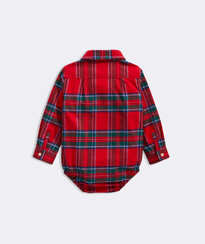 Baby Boy Nantucket Tartan One-Piece Shirt