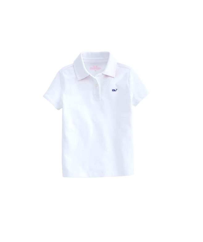 Girls Whale Swirl Pique Club Polo