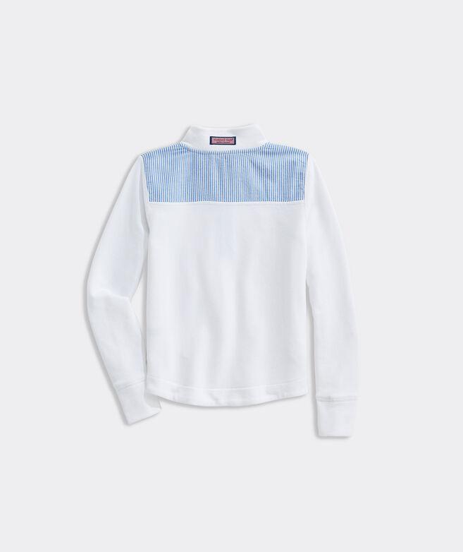 Girls' Seersucker Shoulder Relaxed Shep Shirt