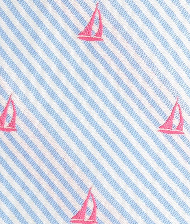 Sailboat On Stripe Kennedy Tie