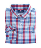 Patriots Point Plaid Slim Tucker Shirt