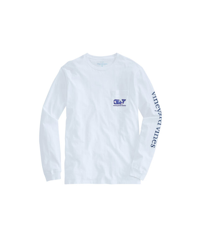 Womens Lacrosse Whale Long-Sleeve Pocket Tee