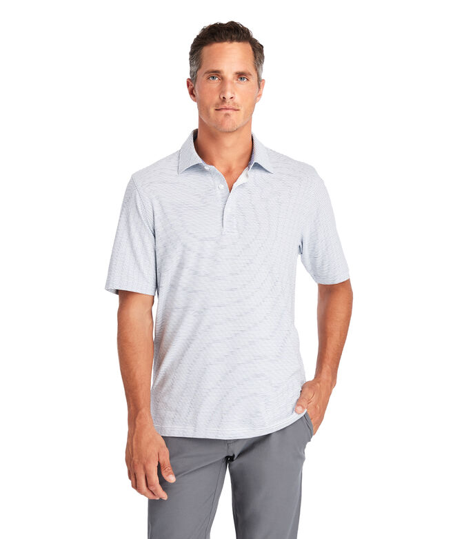 Carmel Wide Stripe White Polo