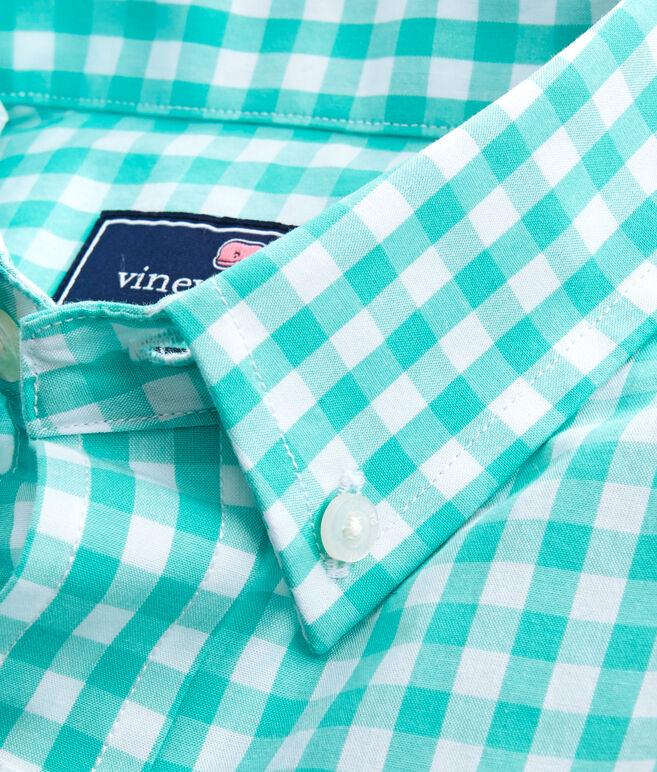Boys Corozo Gingham Whale Shirt