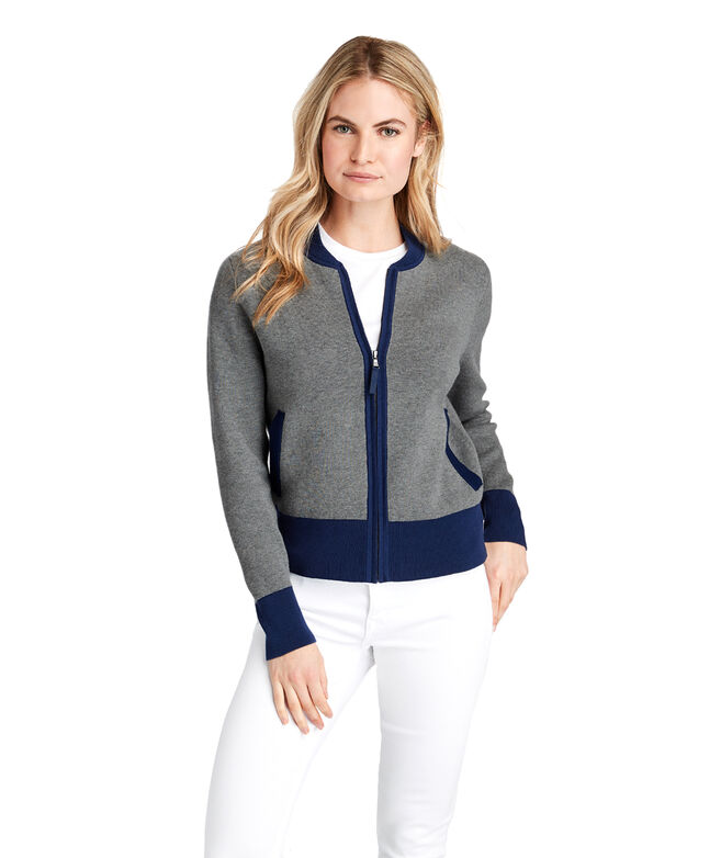 Colorblock Sweater Jacket