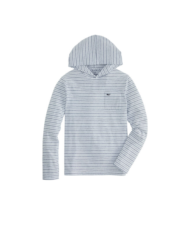 Boys Edgartown Reverse Feeder Stripe Long-Sleeve Hoodie T-Shirt