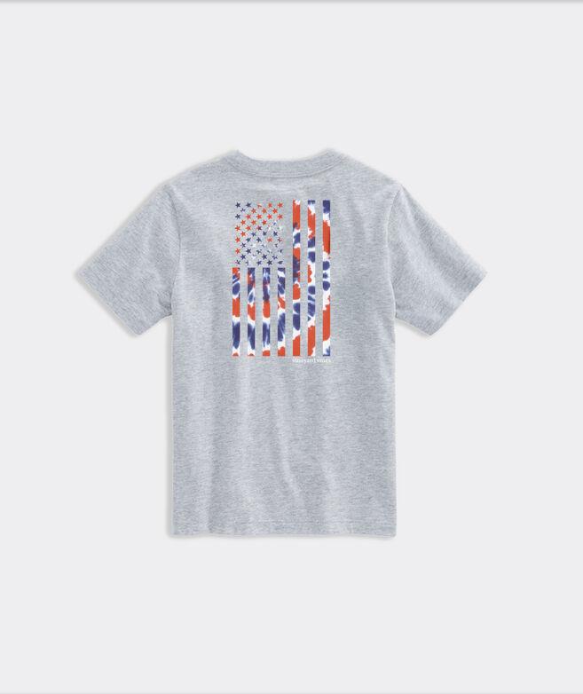 Kids' Limited-Edition Tie Dye American Flag Short-Sleeve Pocket Tee