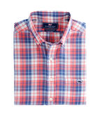 Cross Sound Plaid Slim Tucker Shirt