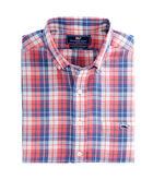 Cross Sound Plaid Slim Tucker Shirt
