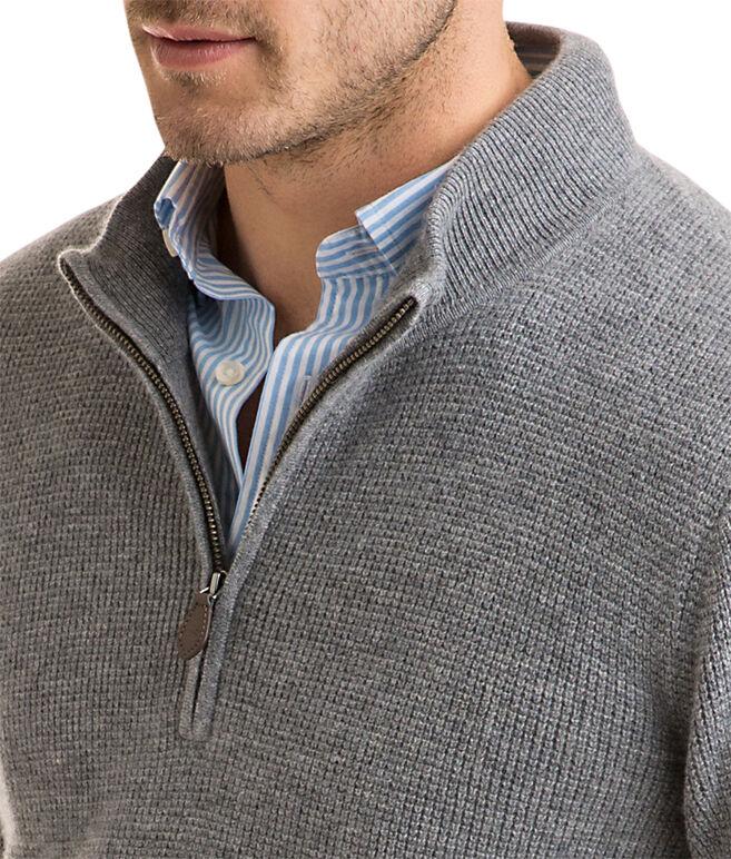 Cashmere Mock 1/4-Zip Sweater